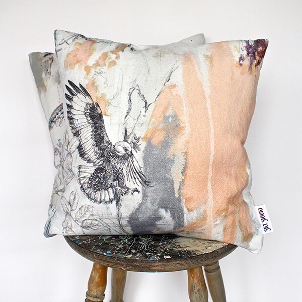 Jackal Buzzard Cushion