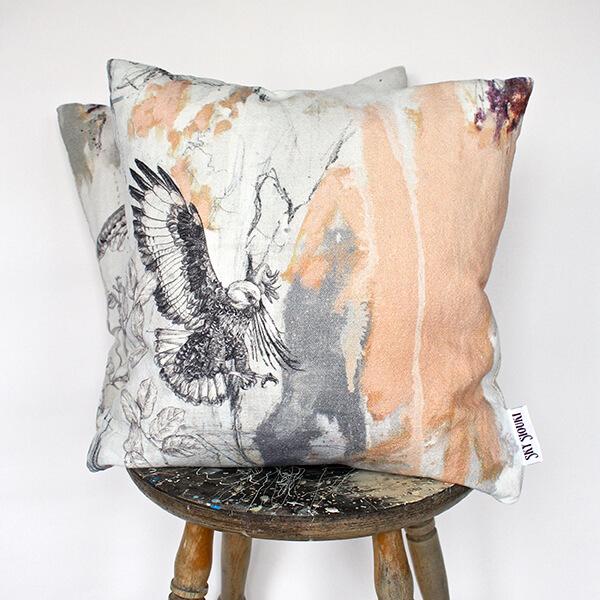 Jackal Buzzard Cushion