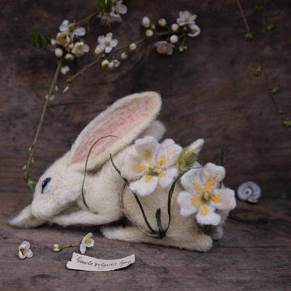 Whispers of Wild Needlefelt Hare