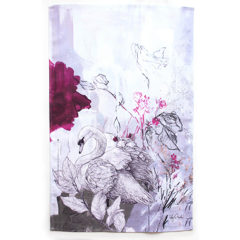 Sky Siouki Mute Swan Towel
