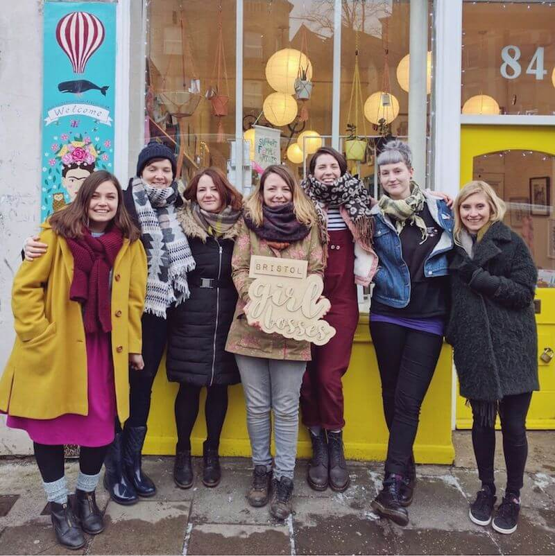 Bristol Girl Bosses Members outside Blaze