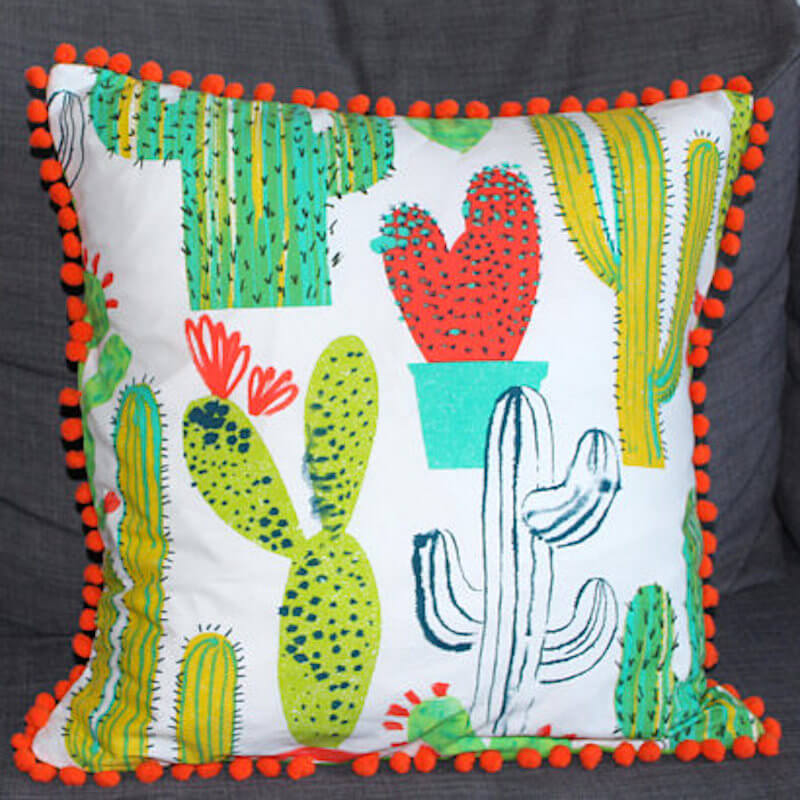 Hello Cleo Cactus Print Cushion Cover