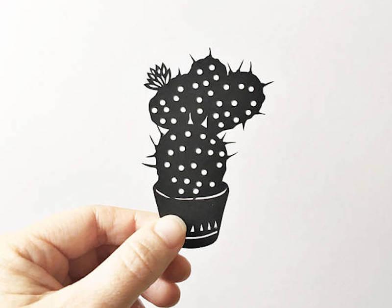 Jessica Baldry Handmade Papercut Cactus
