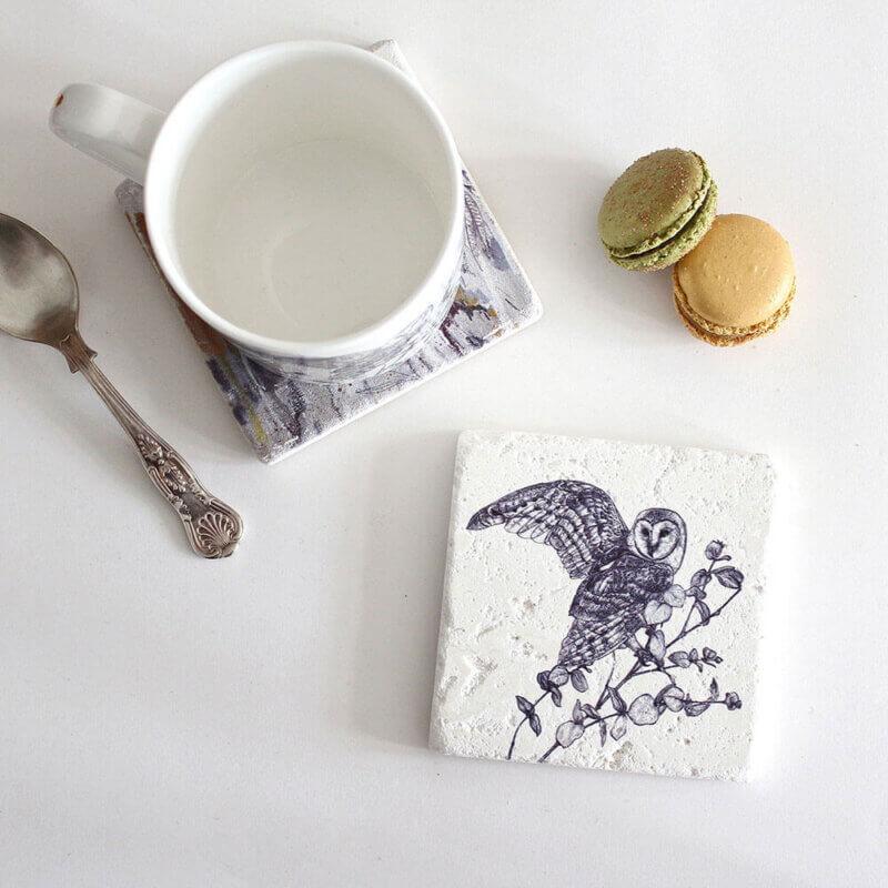 Barn-Owl-Natural-Stone-Coaster-Sky-Siouki