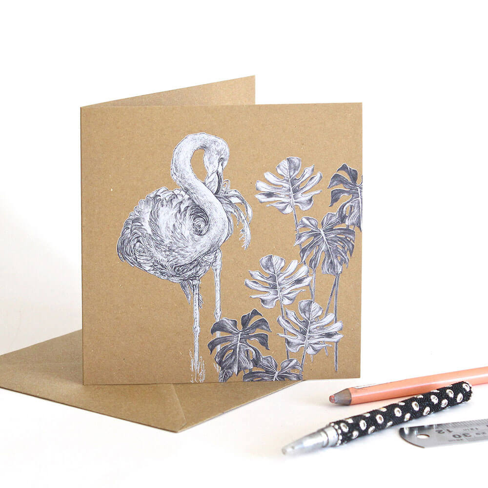 Caribbean-Flamingo-Greeting-Card-Sky-Siouki