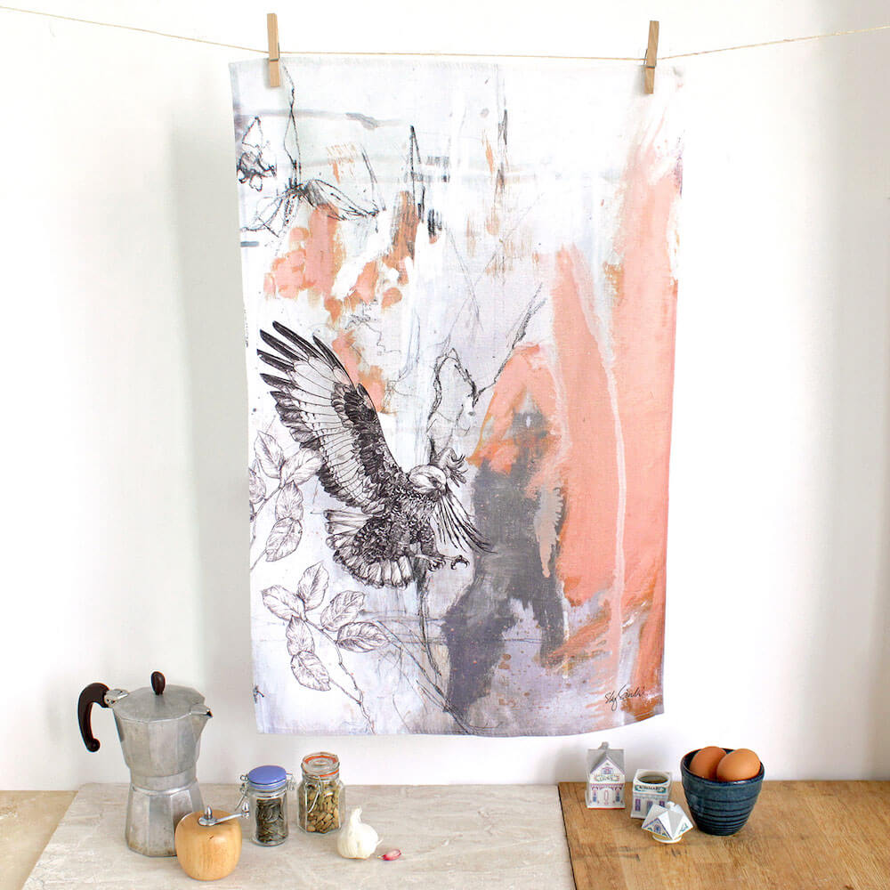 Jackal-Buzzard-Tea-Towel-Sky-Siouki