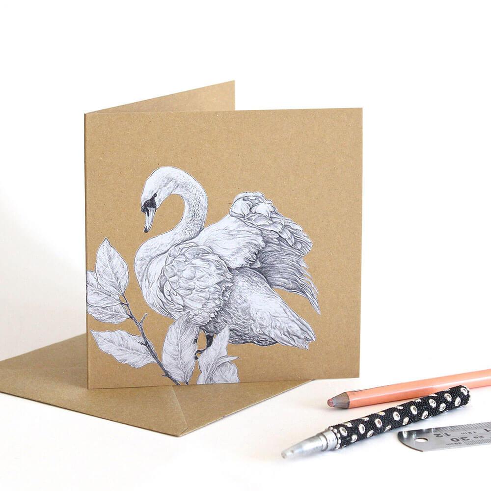 Mute-Swan-Greeting-Card-Sky-Siouki