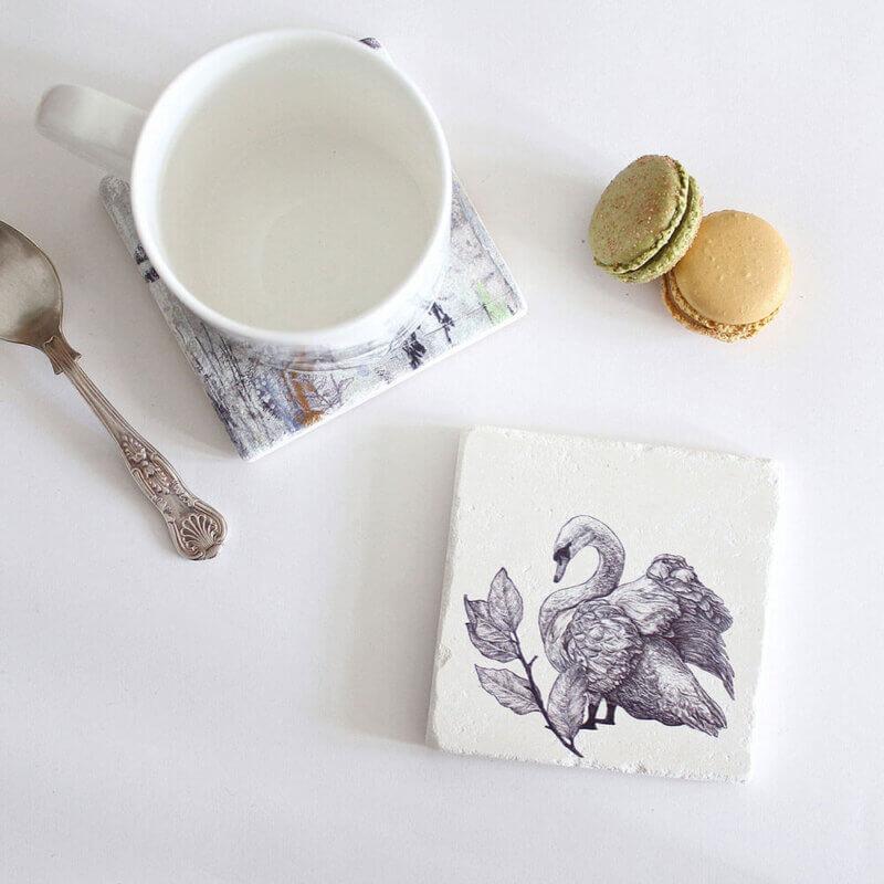 Mute-Swan-Natural-Stone-Coaster-Sky-Siouki