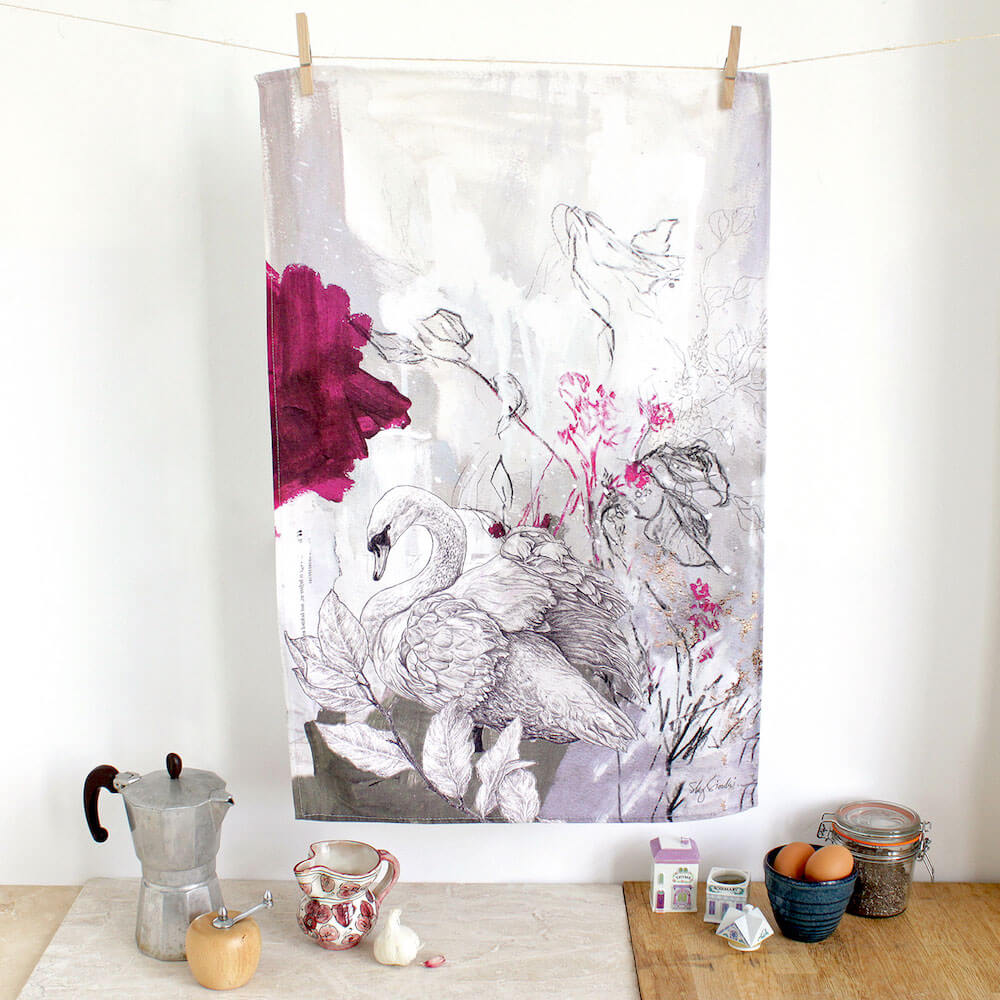 Mute-Swan-Tea-Towel-Sky-Siouki