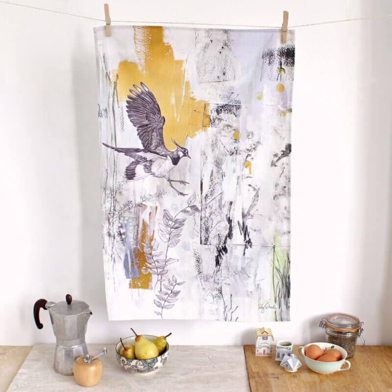 Northern-Lapwing-Tea-Towel-Sky-Siouki