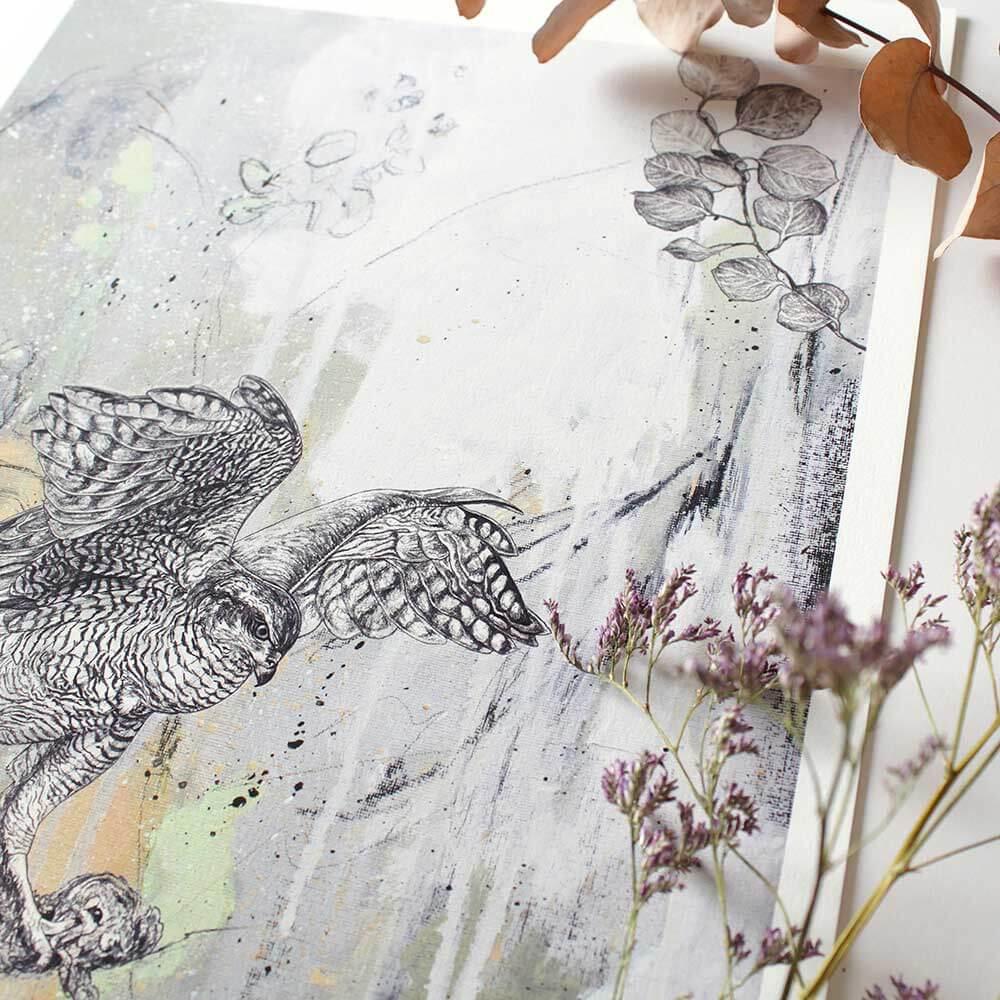 Goshawk-Giclee-Print-Detail-Sky-Siouki