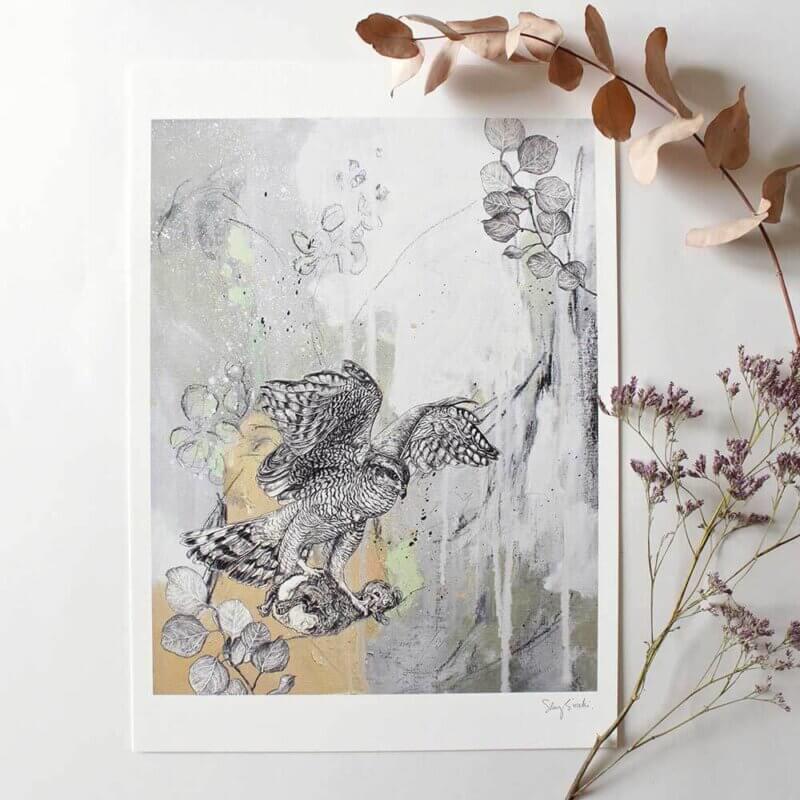 Goshawk-Art-Print-Sky-Siouki