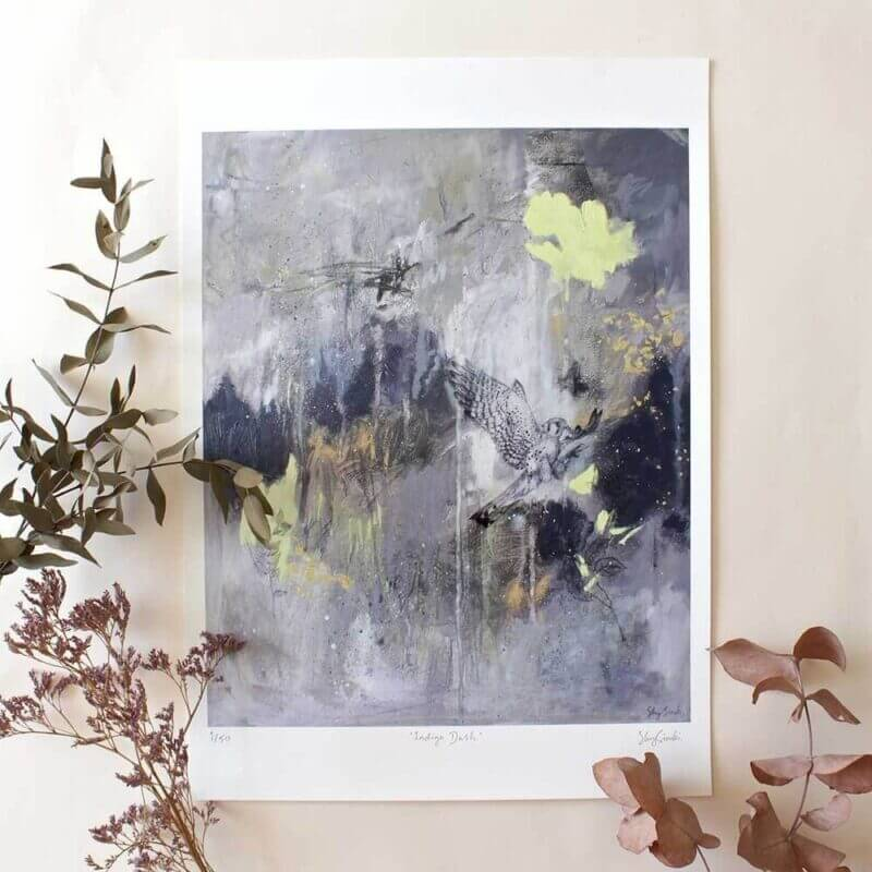 Indigo Dash - Limited Edition Giclee Print
