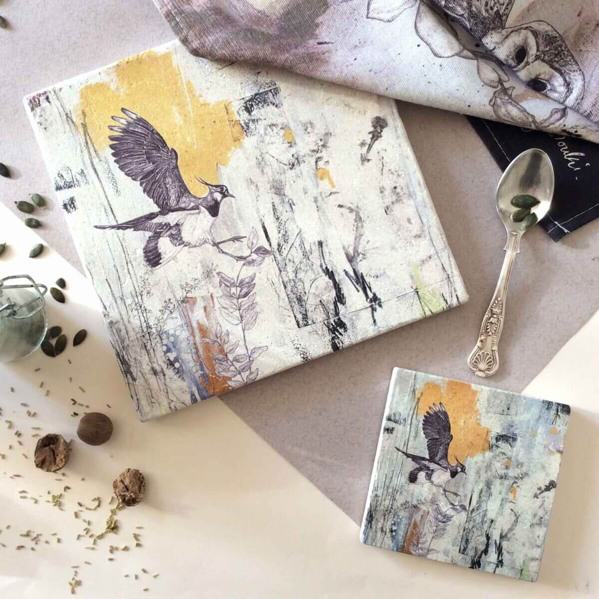 Northern-Lapwing-Placemat-Coaster-Styled