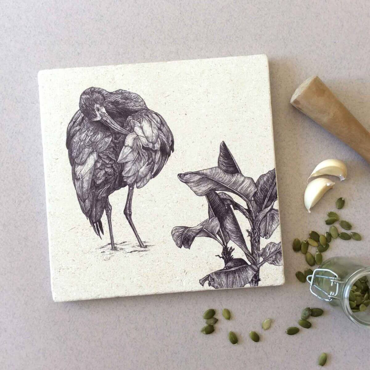 White-Faced-Ibis-Natural-Placemat-Styled