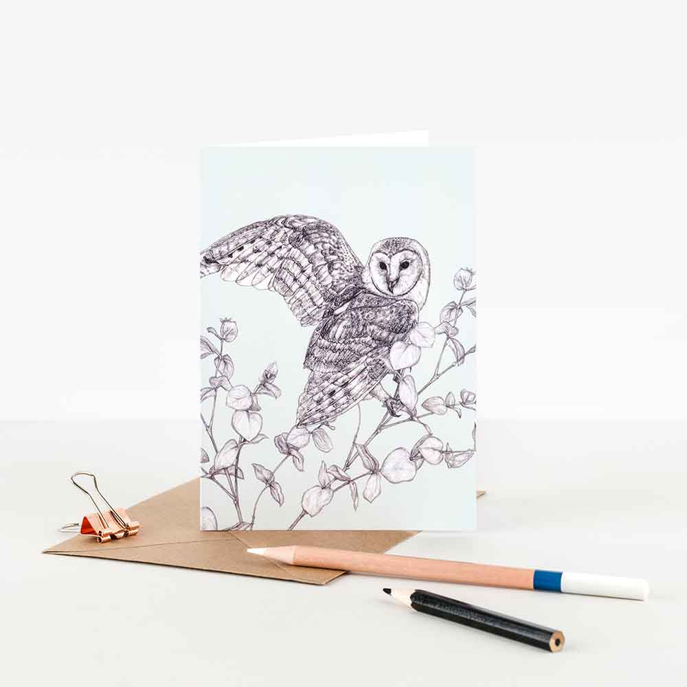 Barn-Owl-Illustration-Note-Card-Sky-Siouki