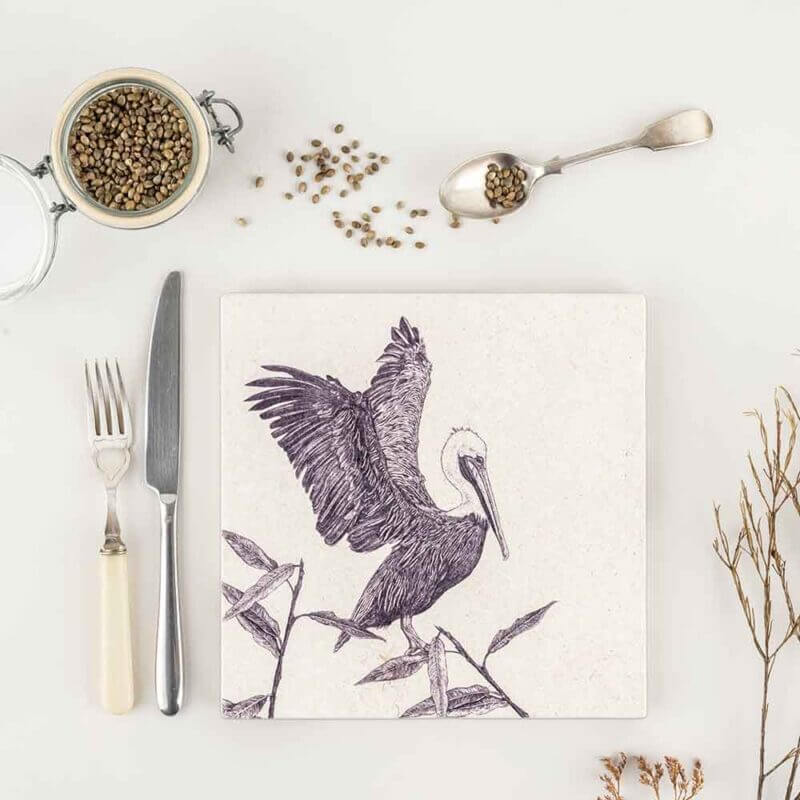 Brown Pelican-Natural-Stone-Placemat-Sky-Siouki
