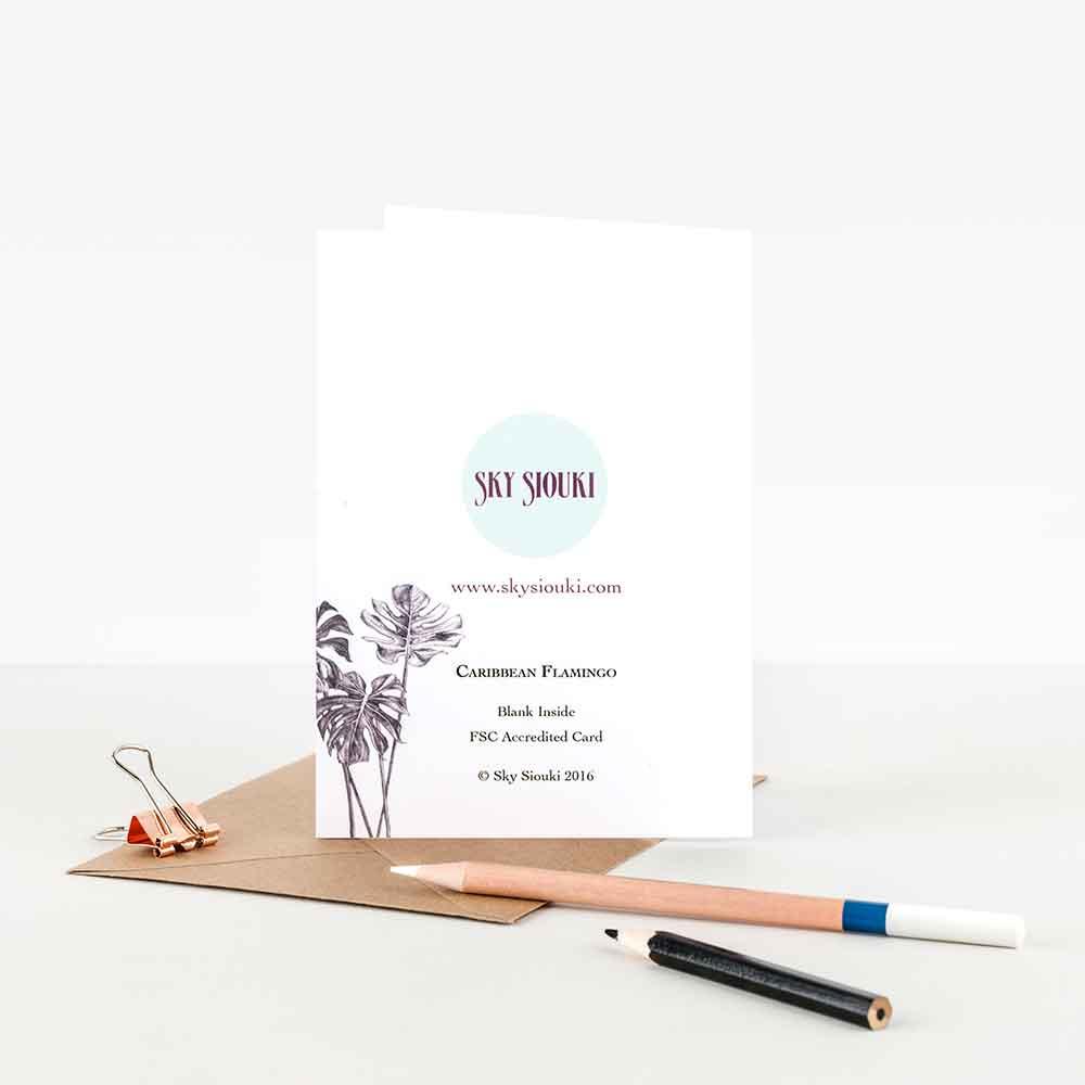 Caribbean-Flamingo-Note-Card-Back-Sky-Siouki