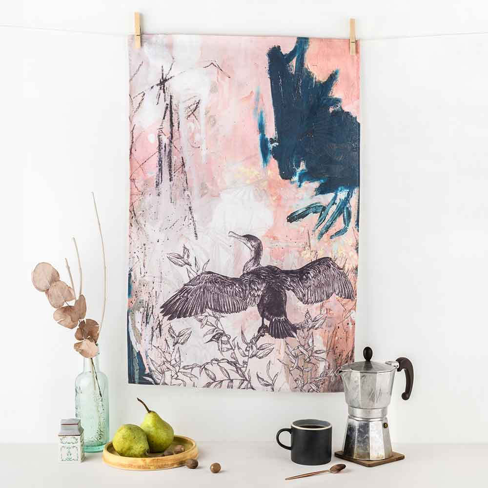 Cormorant-Tea-Towel-Sky-Siouki