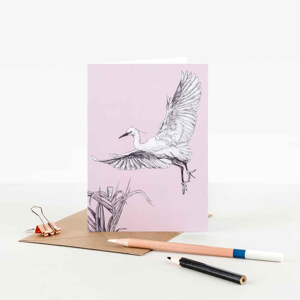 Little-Egret-Illustration-Note-Card-Sky-Siouki