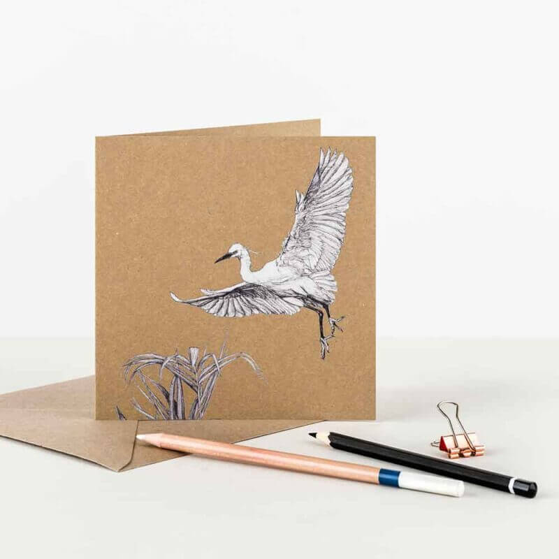 Little-Egret-Recycled-Greeting-Card-Sky-Siouki