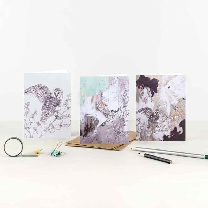 Owl-Kestrel-Note-Card-Set-Sky-Siouki