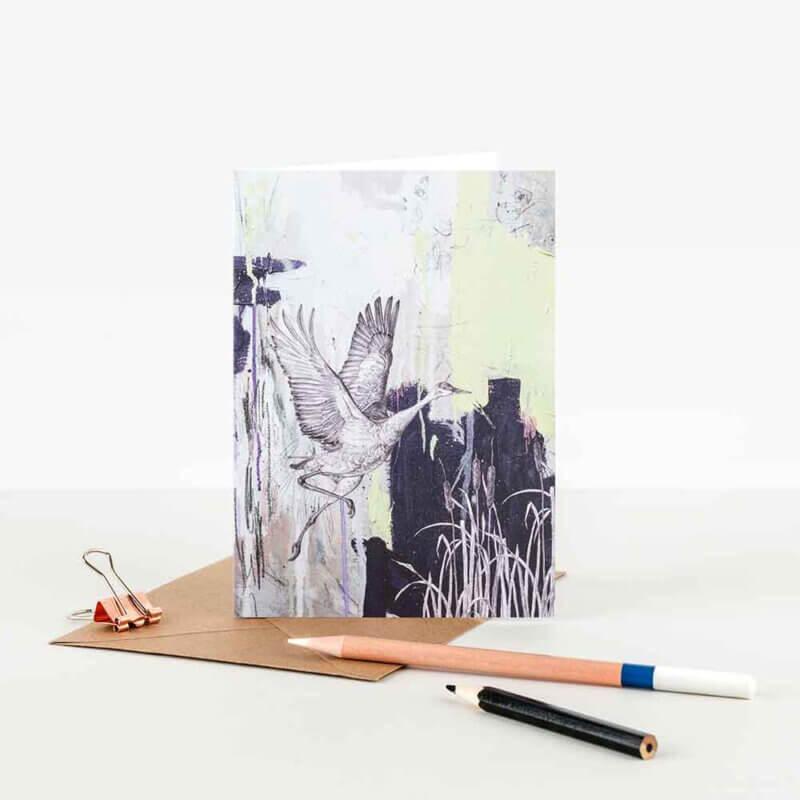 Sandhill-Crane-Note-Card-Sky-Siouki