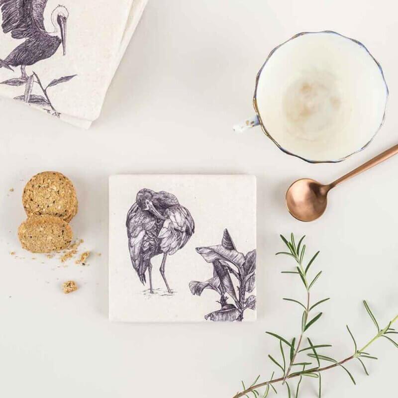 White-Faced-Ibis-Natural-Stone-Coaster-Sky-Siouki