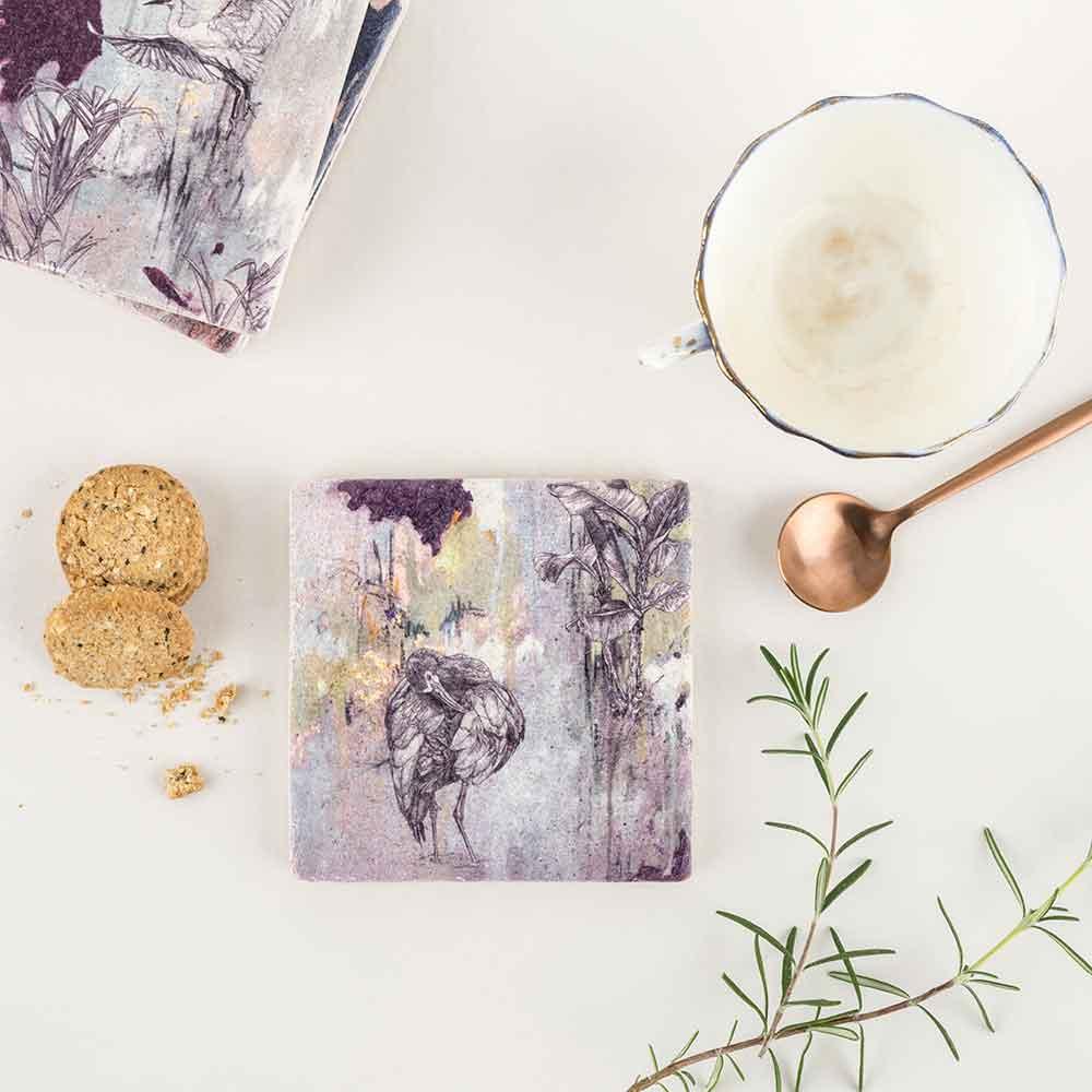 White-Faced-Ibis-Stone-Coaster-Sky-Siouki