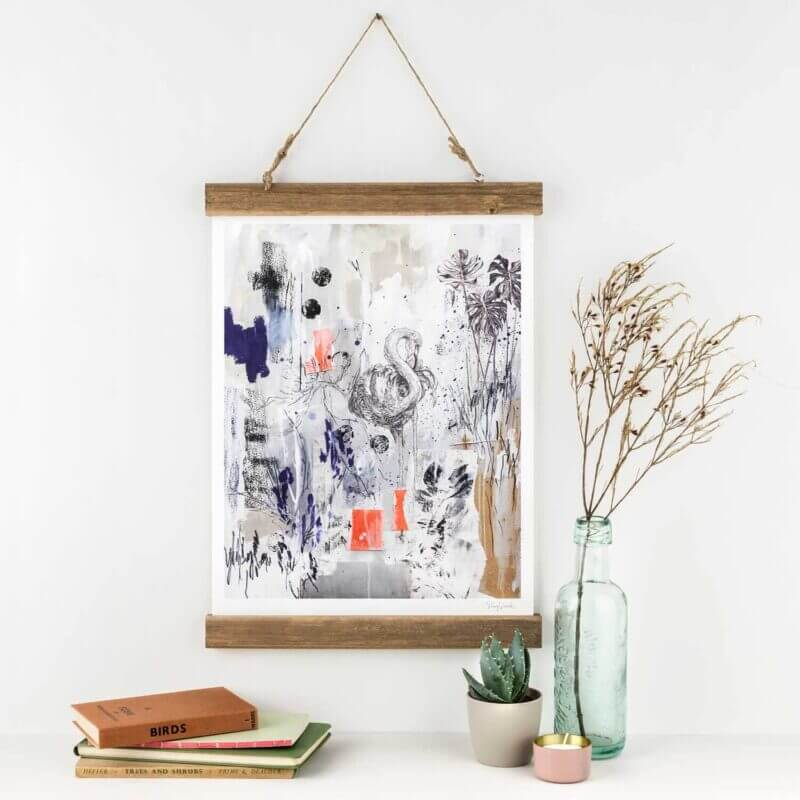 Caribbean-Flamingo-Art-Print-Sky-Siouki
