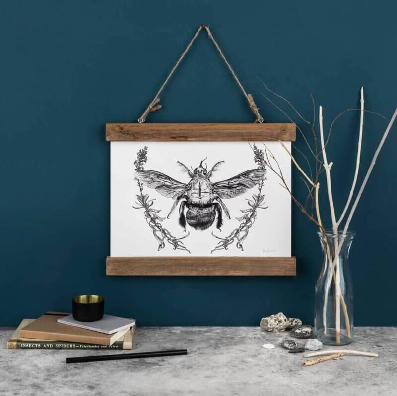 Carpenter-Bee-Art-Print-Sky-Siouki