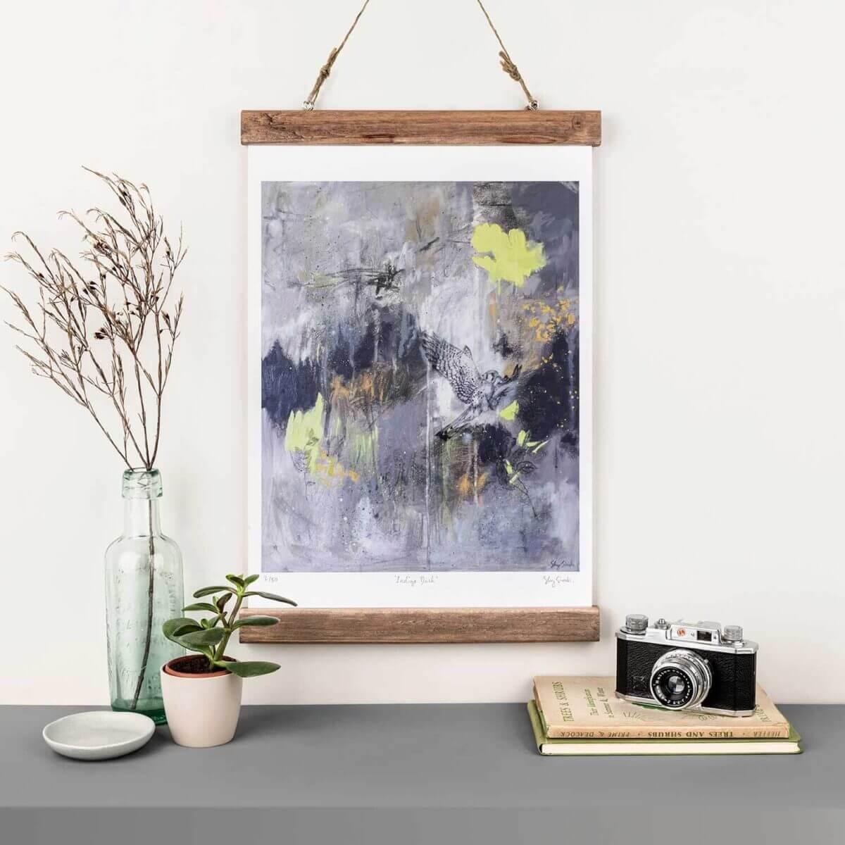 Sky-Siouki-Indigo-Dash-Art-Print