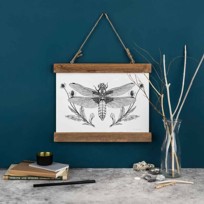 Broad-Bodied-Chaser-Dragonfly-Art-Print-Sky-Siouki