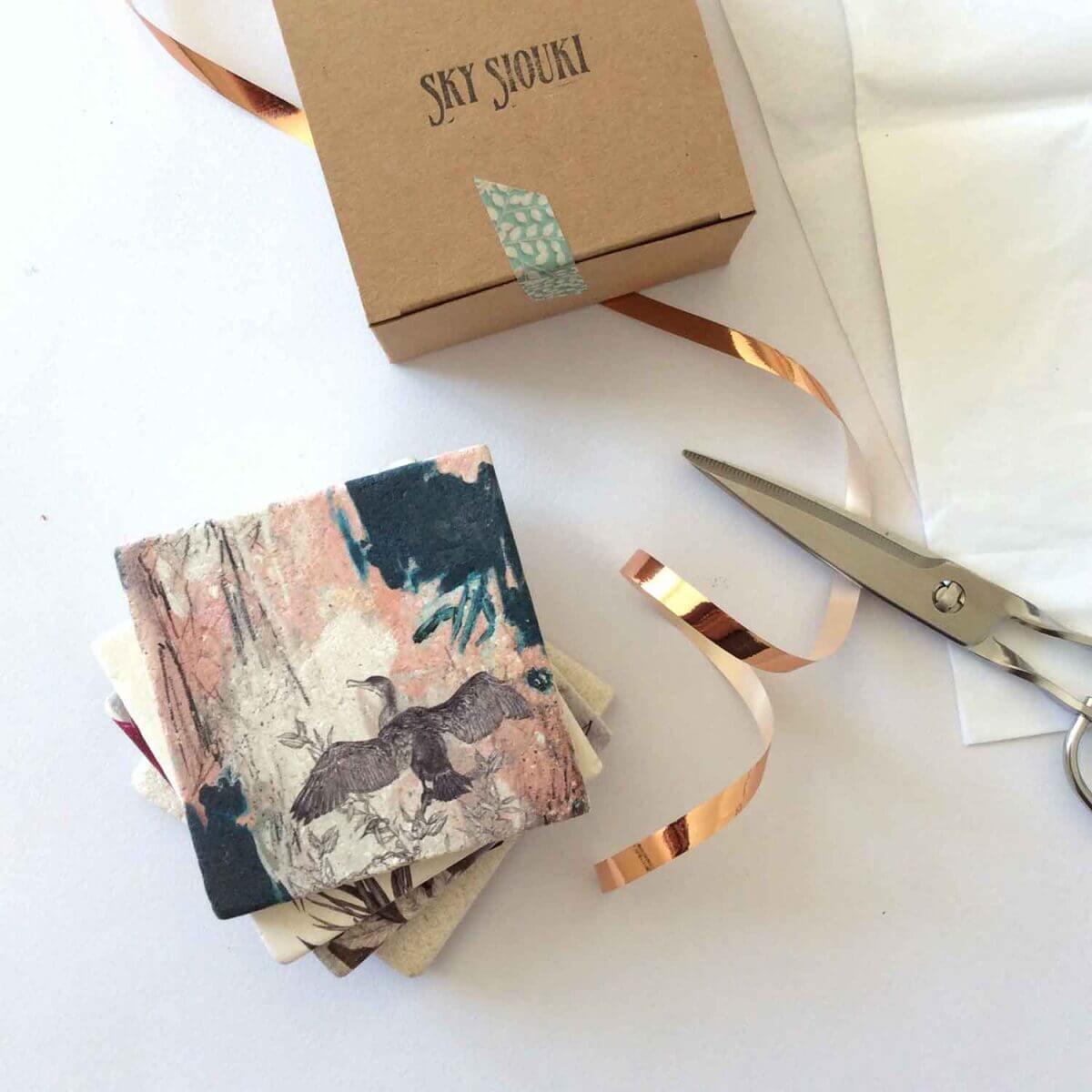 Cormorant-Coaster-Giftbox-Sky-Siouki