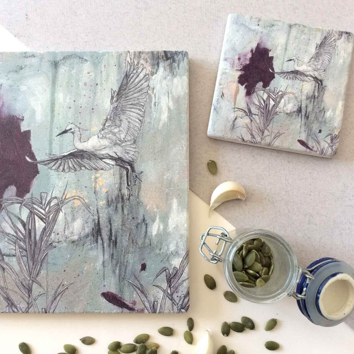 Little-Egret-Coaster-Placemat-Styled-Sky-Siouki