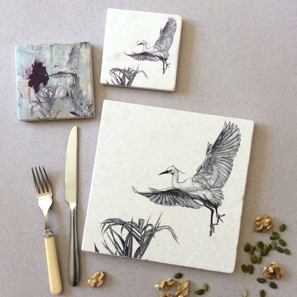 Little-Egret-Coasters-Natural-Placemat-Styled-Sky-Siouki
