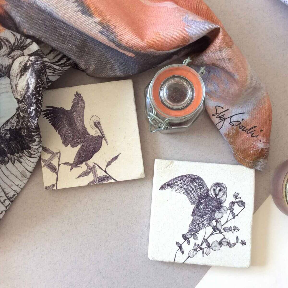 Pelican-Owl-Natural-Coasters-Styled-Sky-Siouki