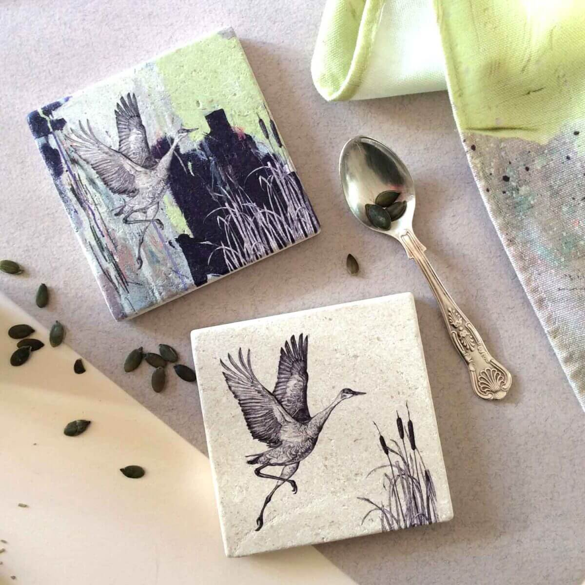 Sandhill-Crane-Coasters-Styled-Sky-Siouki