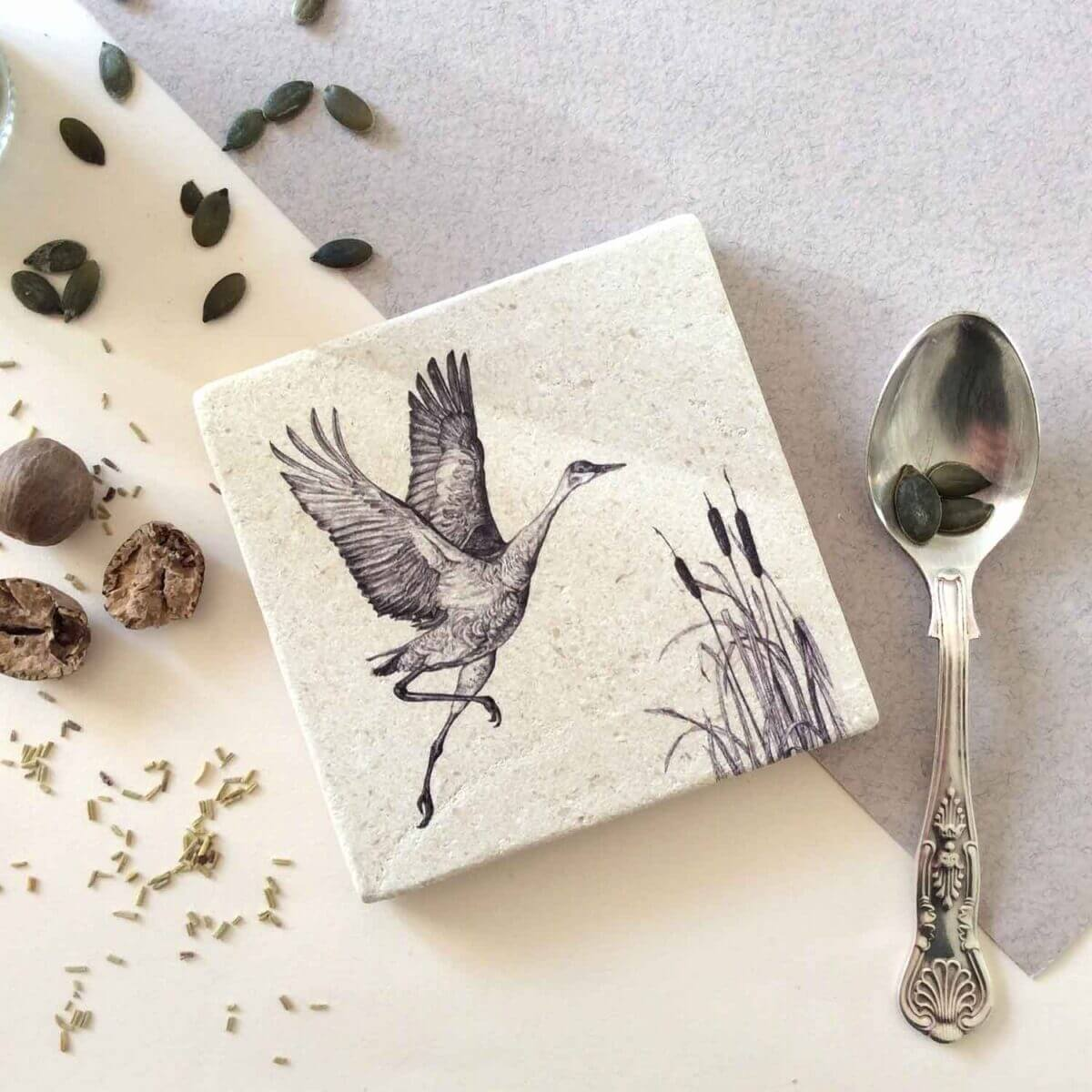Sandhill-Crane-Natural-Coaster-Styled-Sky-Siouki