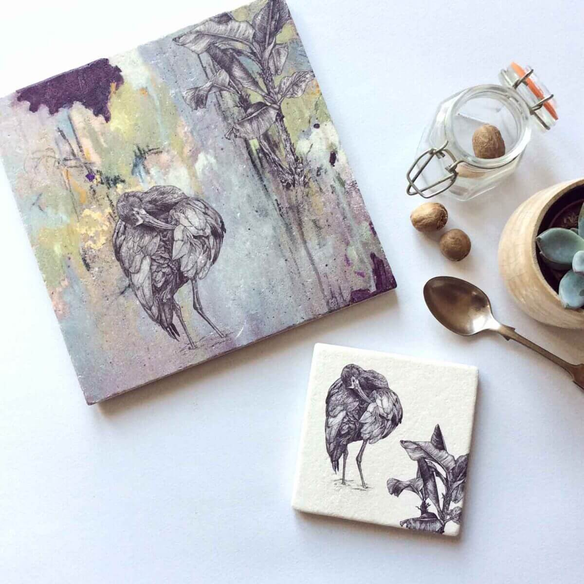 White-Faced-Ibis-Placemat-Coaster-Styled-Sky-Siouki