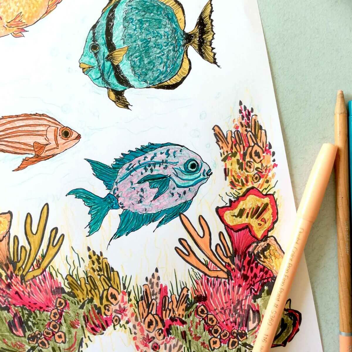Under-The-Sea-Colouring-Sheet-Blue-Fish-Sky-Siouki