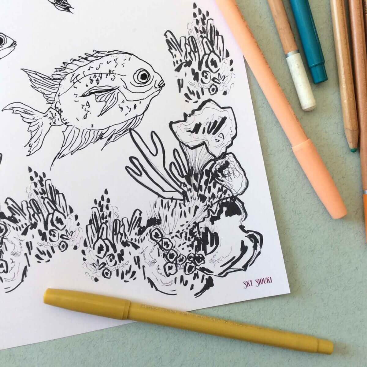 Under-The-Sea-Colouring-Sheet-Coral-Detail-Sky-Siouki