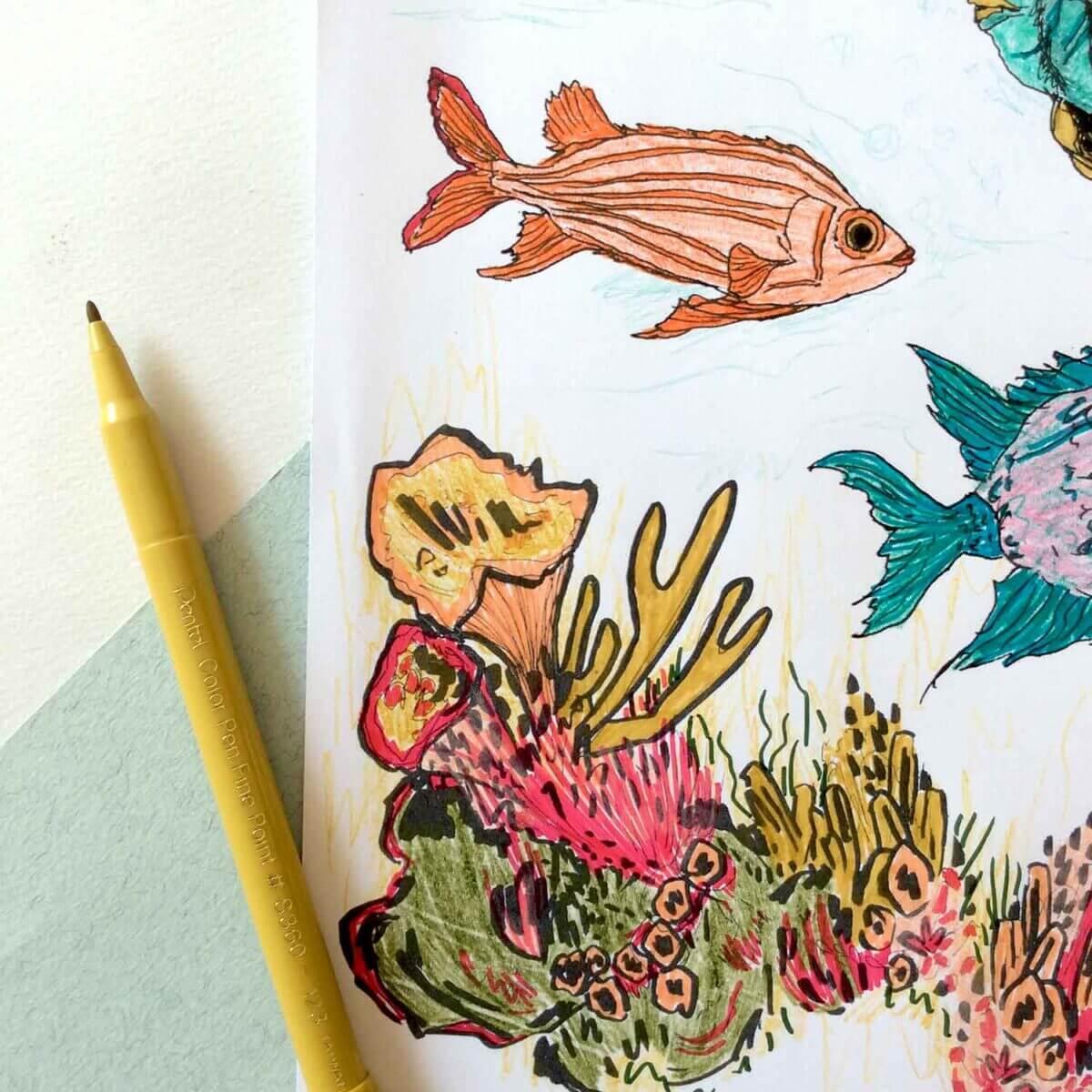 Under-The-Sea-Colouring-Sheet-Orange-Fish-Sky-Siouki