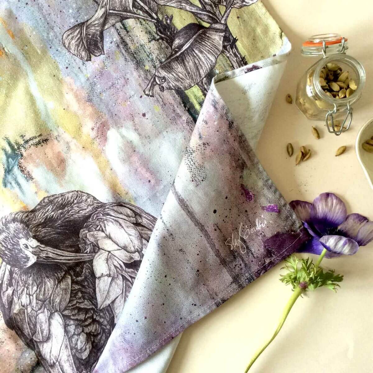 White-Faced-Ibis-Tea-Towel-Styled-Sky-Siouki