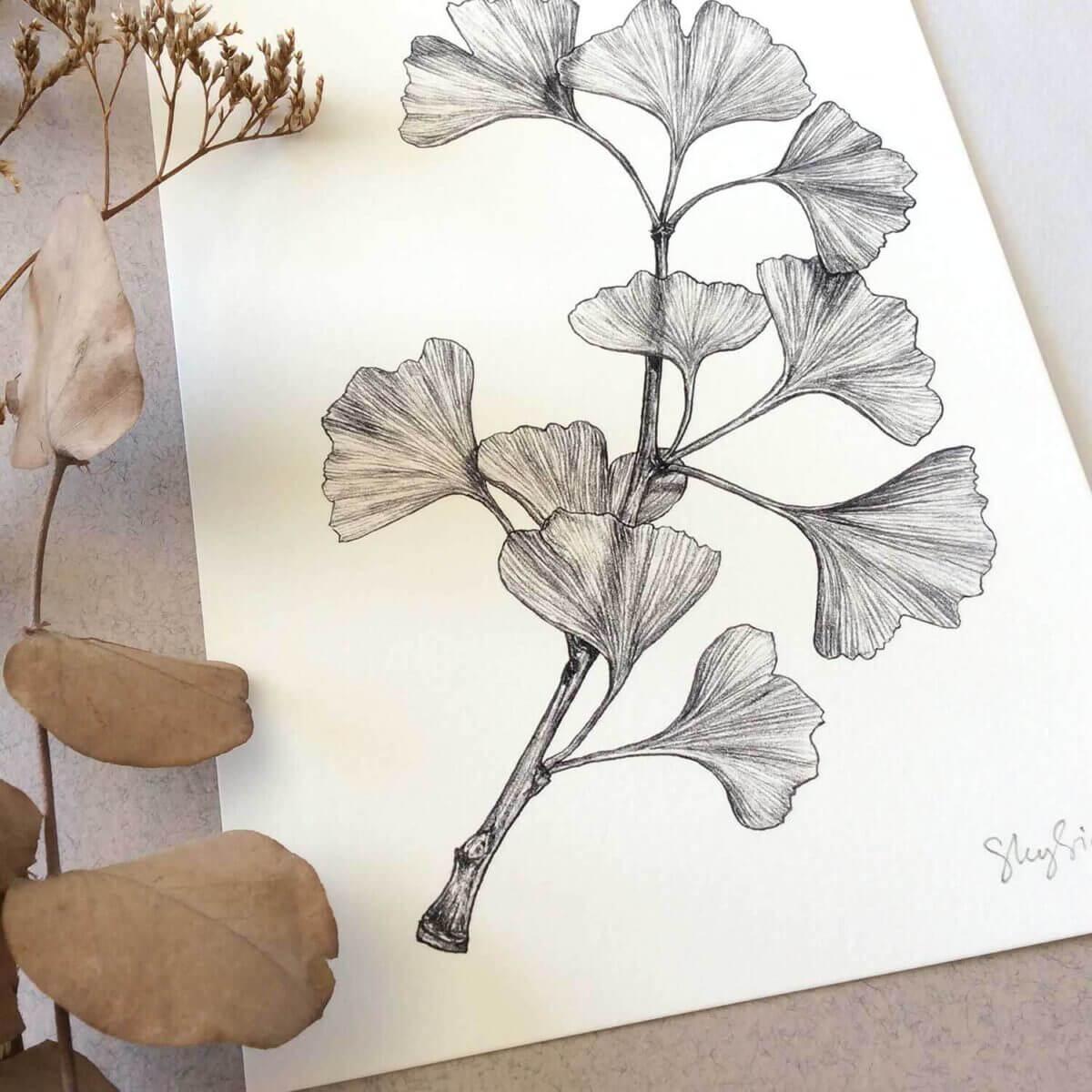 Gingko-Art-Print-Detail-Top-Sky-Siouki