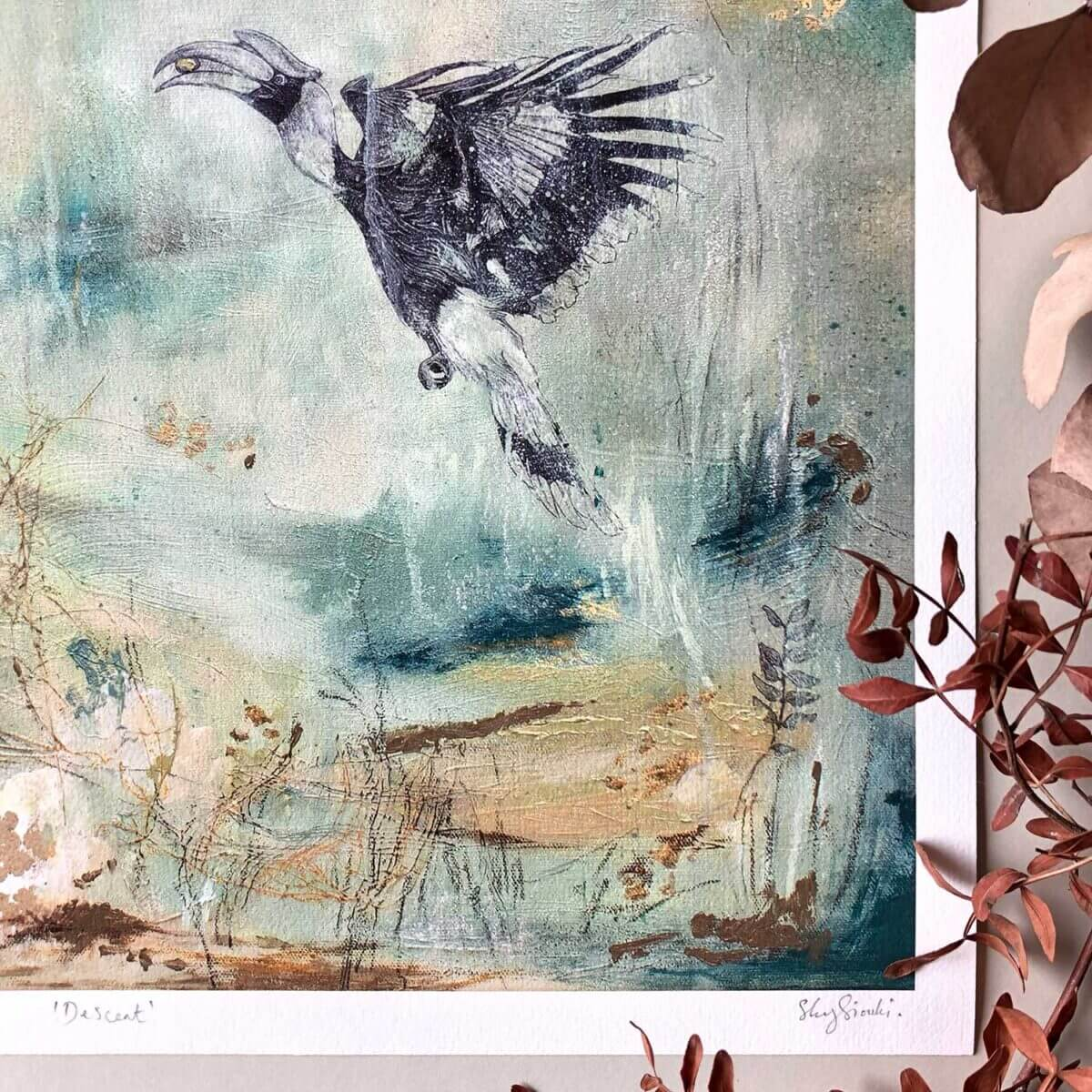 Descent-Print-Hornbill-Sky-Siouki