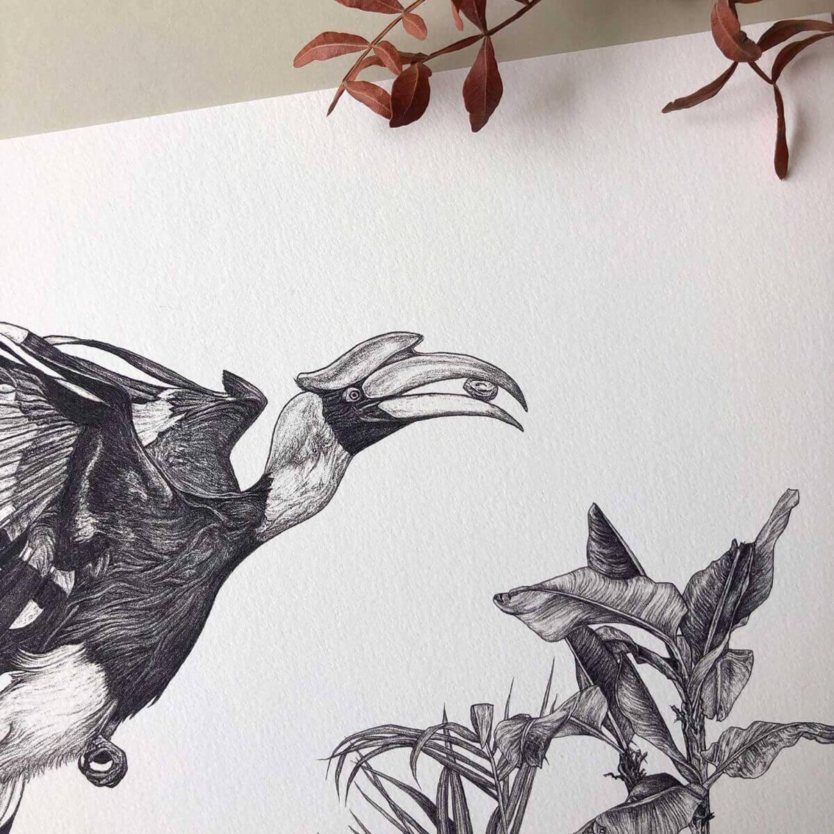 Great-Hornbill-Print-Detail-Sky-Siouki