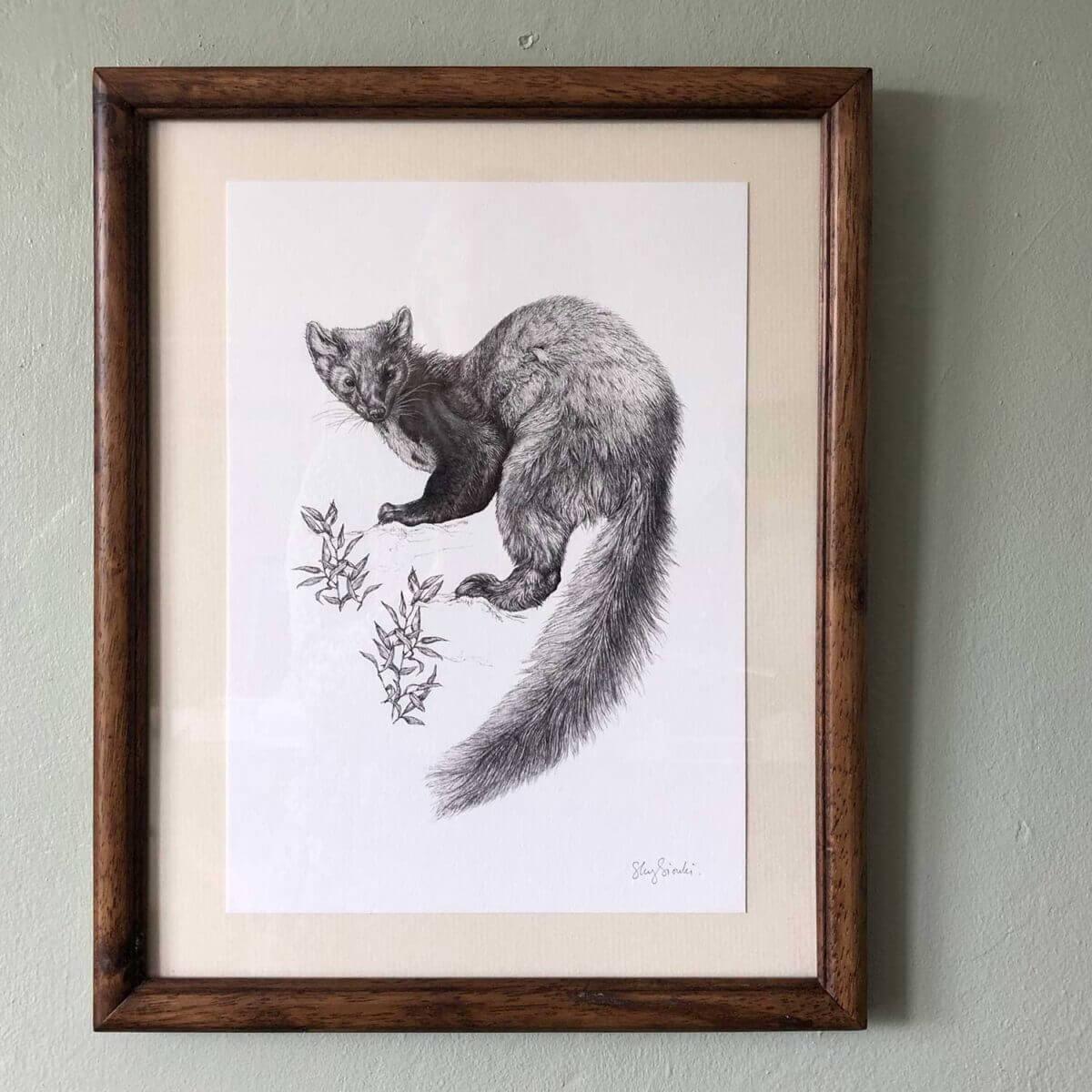 Pine-Marten-Print-Frame-Sky-Siouki